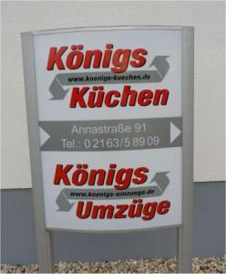 Küchen Königs Firmenschild