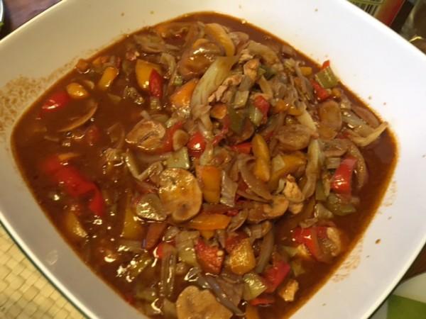 Maksed food - mexikanisches Gemüse , scharf und lecker